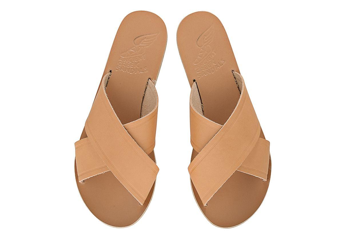 Anciennes Sandales Grecques Sandales En Cuir Noir Thais VZNMtX5r